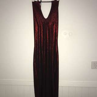 Halter neck vintage dress