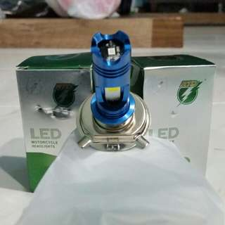 H4 White LED with Blue DRL