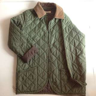 Olive Quilted Winter Jacket
