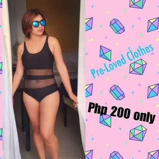 One piece Monikini Swimsuit Mesh