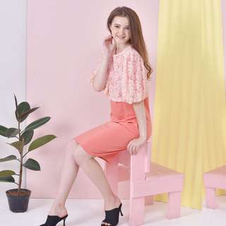 blanik Dress brokat pink