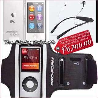 iPod Nano 7thGen 16GB Silver + Motorola Bluetooh Headset + Proform Sport Armband