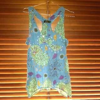 Unique cotton summer Olive designer top size 10