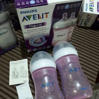 Avent 9oz pink twin pack