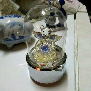 100% real 日本 小樽 琉璃熊音樂盒 日本製造