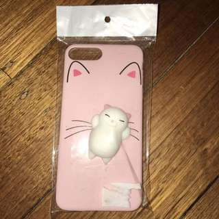 Squishy cat iPhone 7+ case
