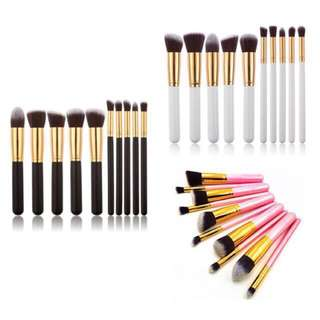 10pcs Kabuki Make Up Brushes