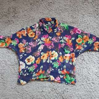 Folded & Hung Floral Sheer Blouse