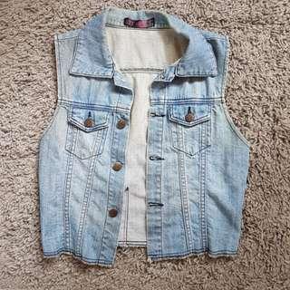Next Sleeveless Denim Jacket