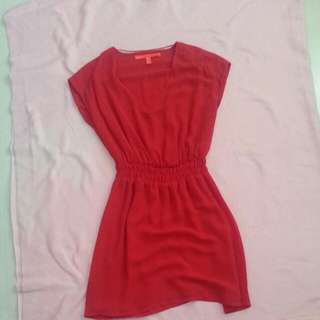Mango Chiffon Dress Size Small