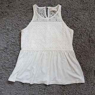 GTW White Lace Top