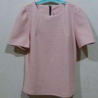 Embose Pink Nude Shirt