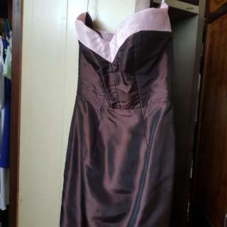 ❤REPRICED!!! Eric Pineda Brown and pink Sweetheart cocktail dress