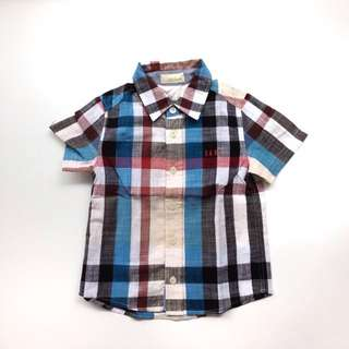 (Size 2Y) Daks Boys Linen Checkered Shirt
