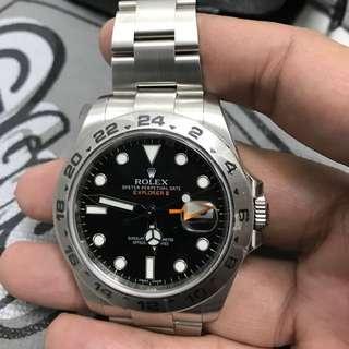 Beautiful 42mm Rolex EXPLORER 2 Black dial