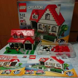 2007年絕版Lego#4956三合一屋