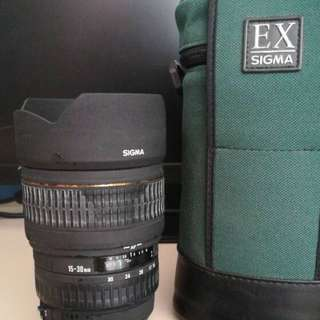 Sigma EX 15mm-30mm lens for Canon