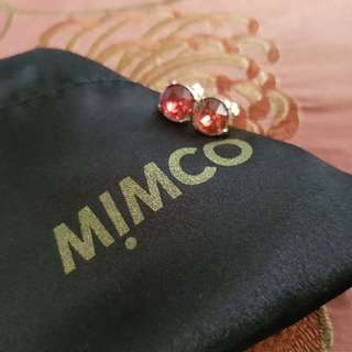 Mimco pink stud earrings