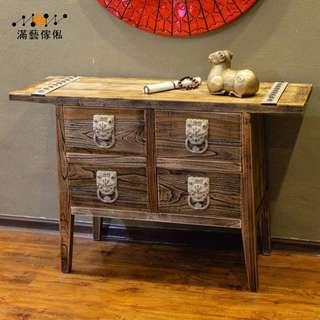 〈滿藝設計傢俬〉930  中式實木家具斗櫃 木質玄閞櫃門 廳櫃 餐廳設計師樣板間收納儲物櫃子