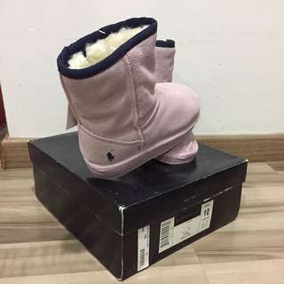 Polo Ralph Pink Winter Boots