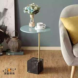 〈滿藝設計傢俬〉933 沙發邊几 小茶几 北歐角几 圓几愛迪小桌子 個性簡約邊桌