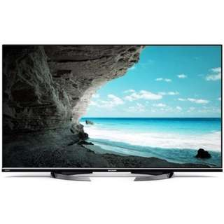 """Sharp 50"""" LED TV. Model: LC50LE860M. Special Feature: 3D Enabled. 1 Year Warranty"""