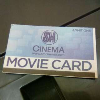 Movie Ticket SM Cinema