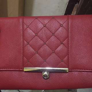NEW LOOK RED GLAM SLING BAG