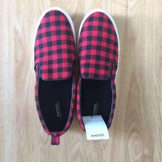 Mango Red Slip-on Shoes