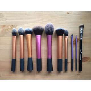 Real Techniques and Sigma Makeup Brushes