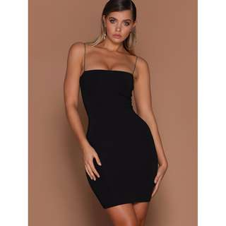 Meshki Mia Thin Strap Dress Black