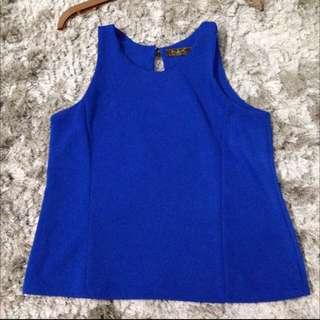 Cobalt Blue Sleveless Blouse