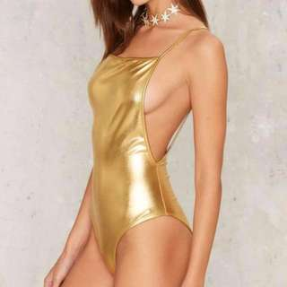 Nastygal Gold metallic bodysuit
