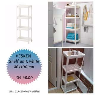 IKEA - VESKEN Shelf unit, white