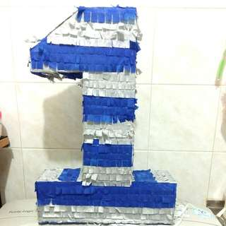 Number 1 pull pinata (price reduced)
