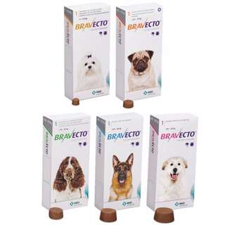Bravecto Chewable Tablet for Dogs and Puppies (Oral Chewable Tablet for the Treatment & Prevention of Tick & Flea Infestation in Dogs)