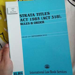 Strata Titles Act 1985 Rules & Order