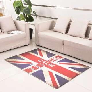 復古英國旗防滑地氈