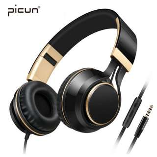 Instock: Picun I58 Stereo Wired Headphones Strong Bass Headsets For Music
