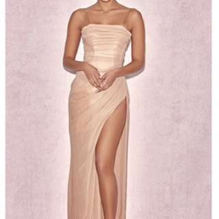 Rose gold/salmon ball dress for rent