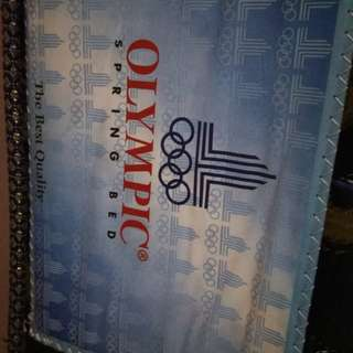 Kasur spring bed 2nd merk Olympic. Ukuran 90x200