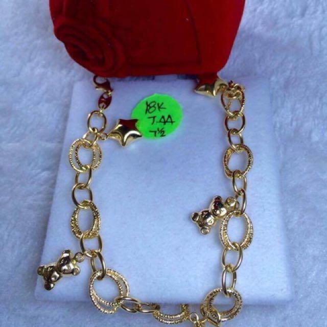 18k Saudi Gold Bracelet 7.44grams