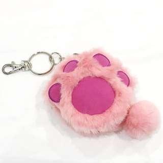 Disney Pink Paw Keychain Coin Purse