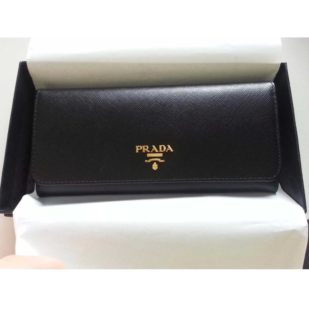 7931eda3e049 1M1132 Prada Saffiano Leather Long Wallet, Women's Fashion, Bags ...