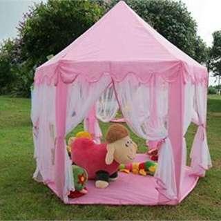 Portable Princess Castle Play Tent Foldable House - Khemah Puteri