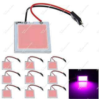 2x PINK Color 24 chips COB LED