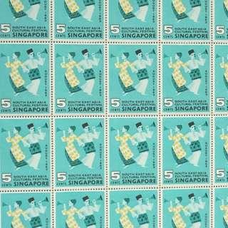 Singapore 1963 Full Sheet Stamps 100pc