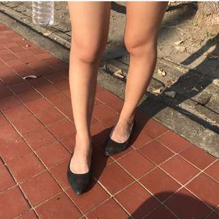 brunii安琪穿新衣尖頭平底鞋/孔雀色/24號