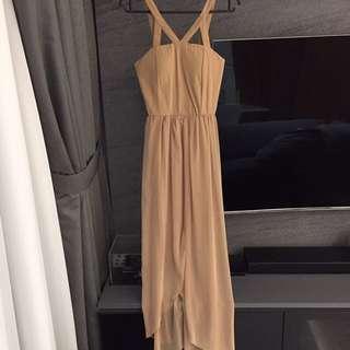 BN Long beige maxi dress