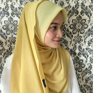 Bawal shawl yellow